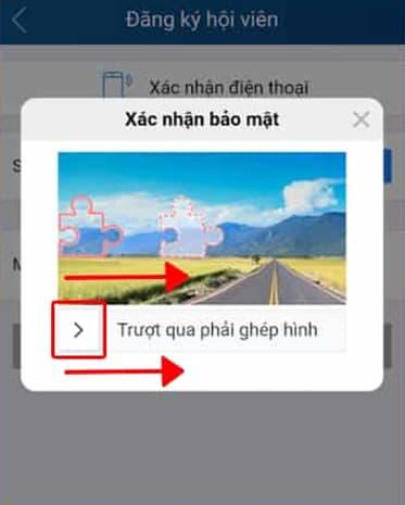 ghép mảnh ghép đề nhận mã xác nhận