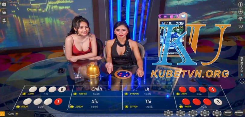 Giao diện xóc đĩa tại Kubet Top